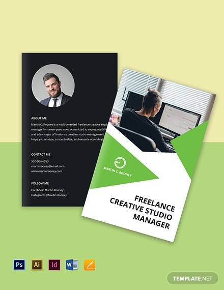 Bi-Fold Freelance Studio Brochure Template