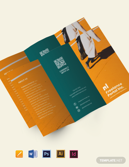 Tri-Fold Freelance Job Brochure Template