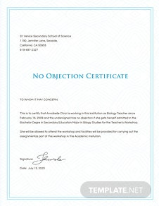 Free salary certificate from employer template in microsoft word no objection certificate from employer template yadclub Images