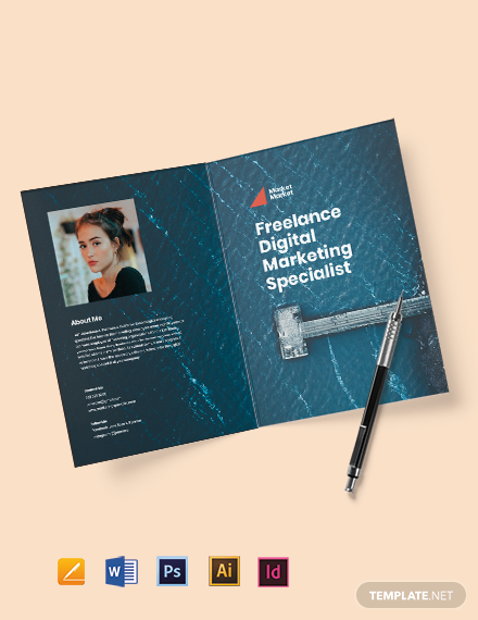 Bi-Fold Freelance Job Brochure Template