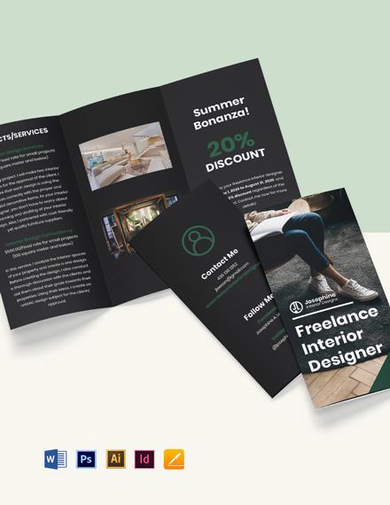 Tri-Fold Freelance Designer Brochure Template
