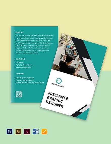 Bi-Fold Freelance Designer Brochure Template