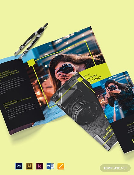 Free Modern Tri-Fold Freelancer Brochure Template