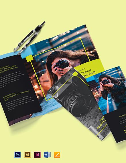 Modern Tri-Fold Freelancer Brochure Template