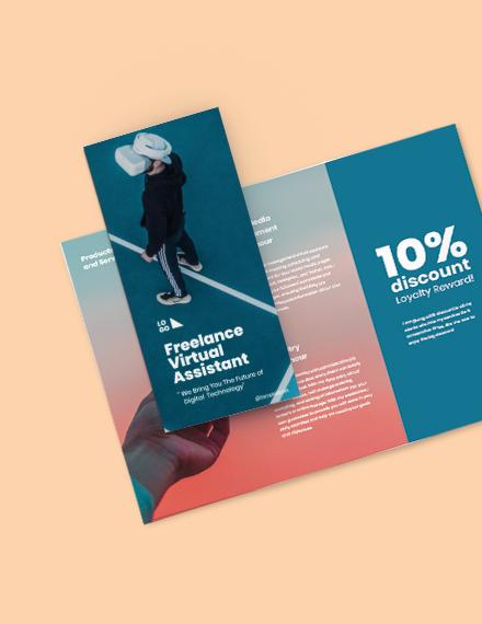 Free Creative Trifold Freelance Brochure Format