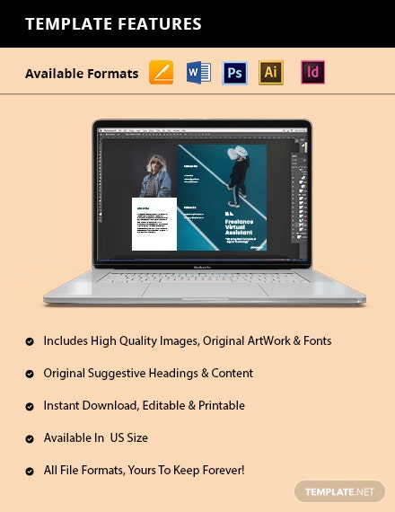 Free Creative Trifold Freelance Brochure Isntructions