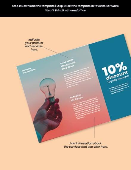 Free Creative Trifold Freelance Brochure Sample