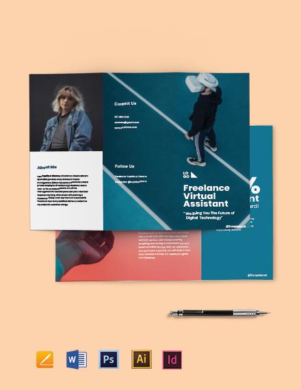 Free Creative Tri-Fold Freelance Brochure Template