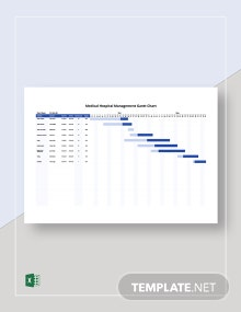 Medical Hospital Management Gantt Chart Template