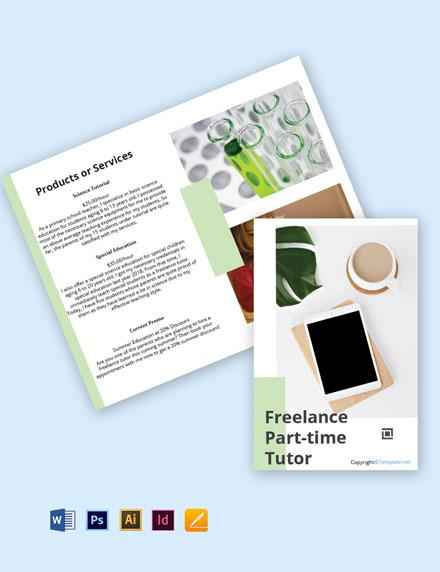 Free Creative Bi-Fold Freelance Brochure Template
