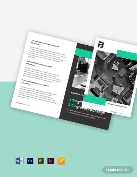 Free Bi-Fold Freelancer Brochure Template