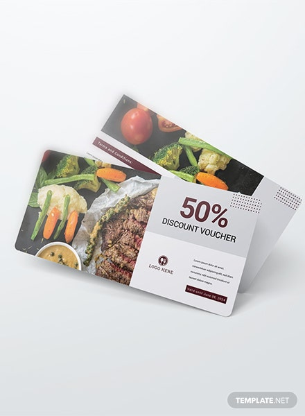 Dinner Discount Voucher Template