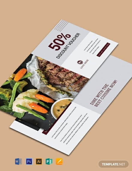 Free Dinner Discount Voucher Template