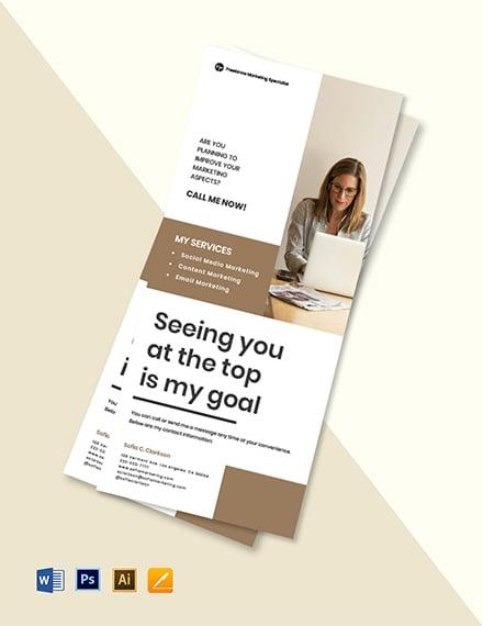 Freelance Marketing Rack Card Template