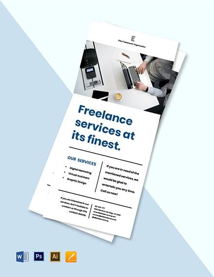 Freelancer Promotion Rack Card Template