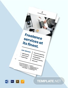 Freelancer Promotion Rack Card Template
