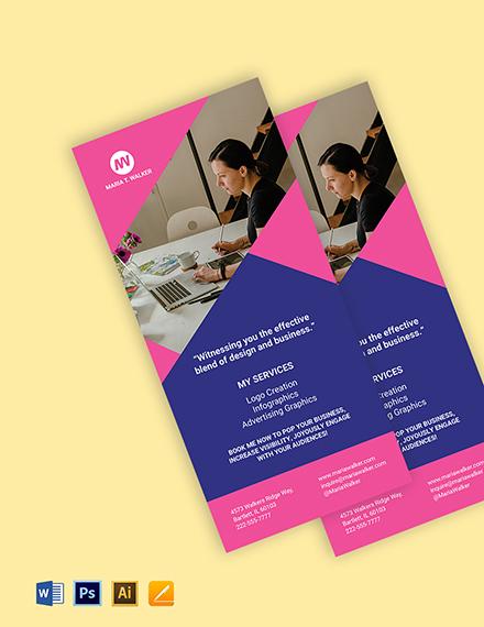 Freelance Hire Rack Card Template