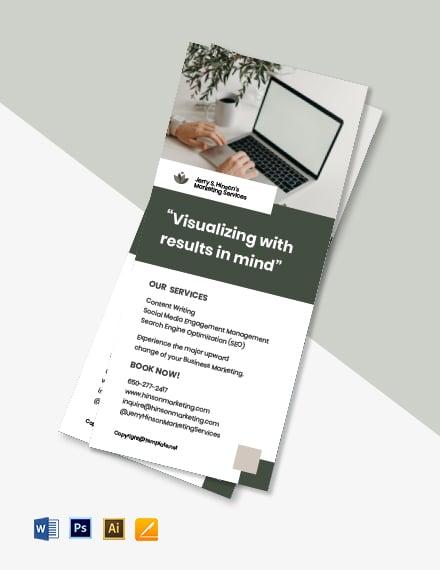 Free Sample Freelance Rack Card Template