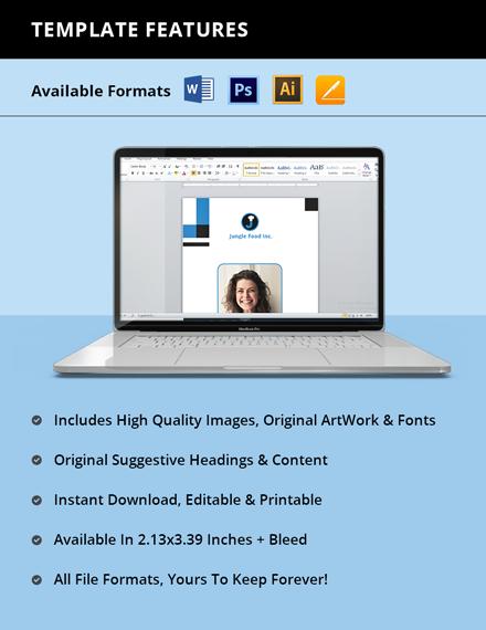 Freelance Employee ID Card Template format