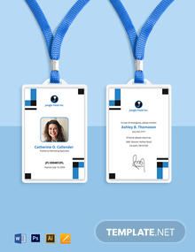 Freelance Employee ID Card Template
