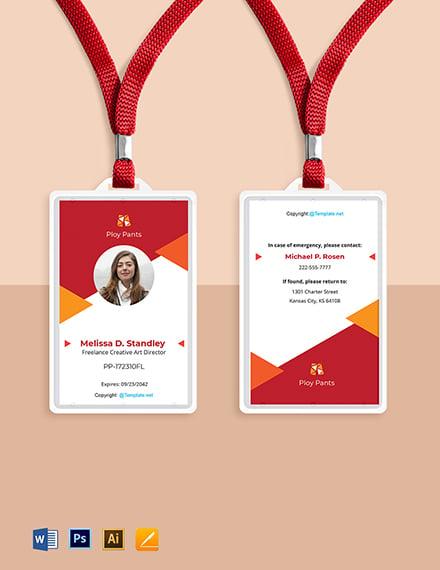 Free Creative Freelancer ID Card Template