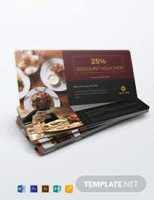 Free Lunch Discount Voucher Template