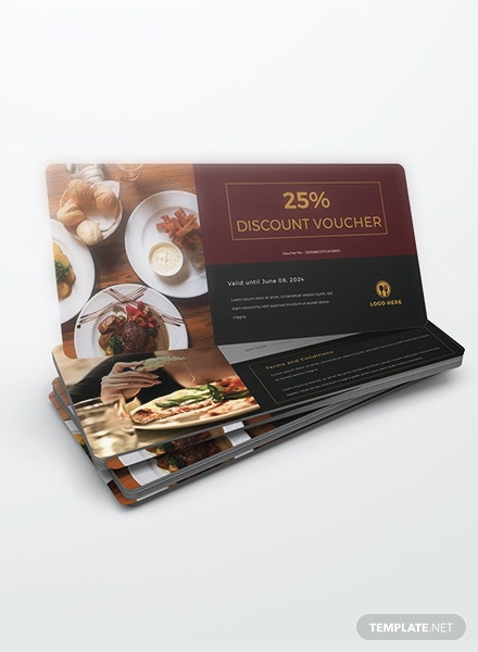 Lunch Discount Voucher Template
