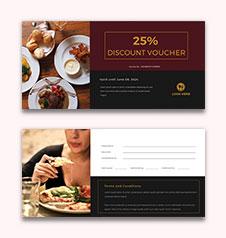Lunch Discount Voucher Template