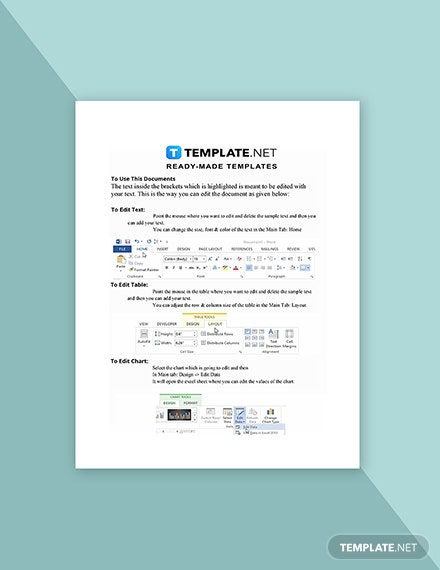 Work From Home Log Form Template Instruction
