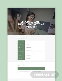 Employee Work From Home Meeting Minutes Template