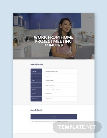 Work From Home Project Meeting Minutes Template