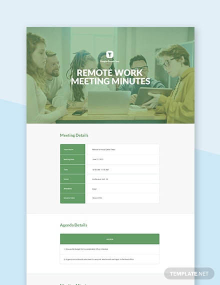 Remote Work Meeting Minutes Template
