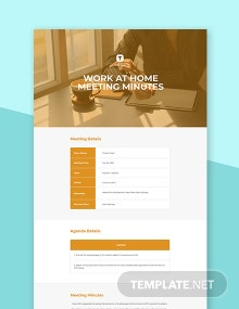 Work at Home Meeting Minutes Template