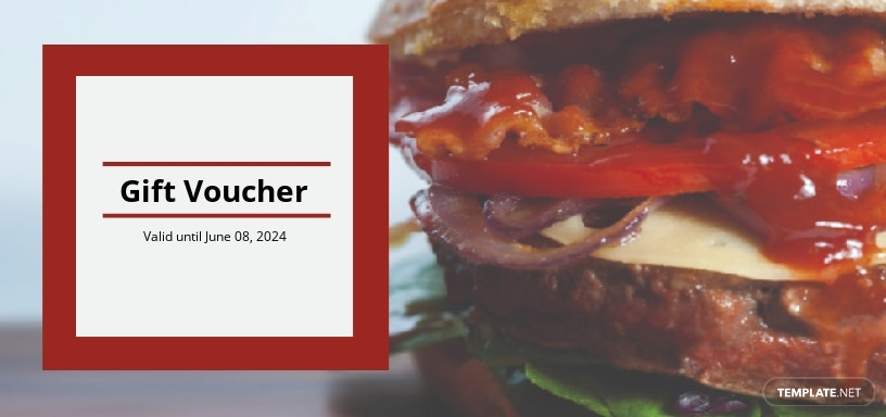 Fast Food Gift Voucher Template
