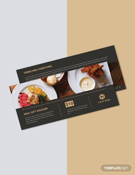 Free Meal Gift Voucher Template