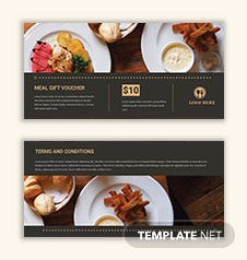 Meal Gift Voucher Template