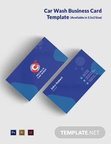 Car Wash Service Business Card Template