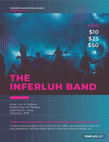 free band concert poster template download 96 posters in psd