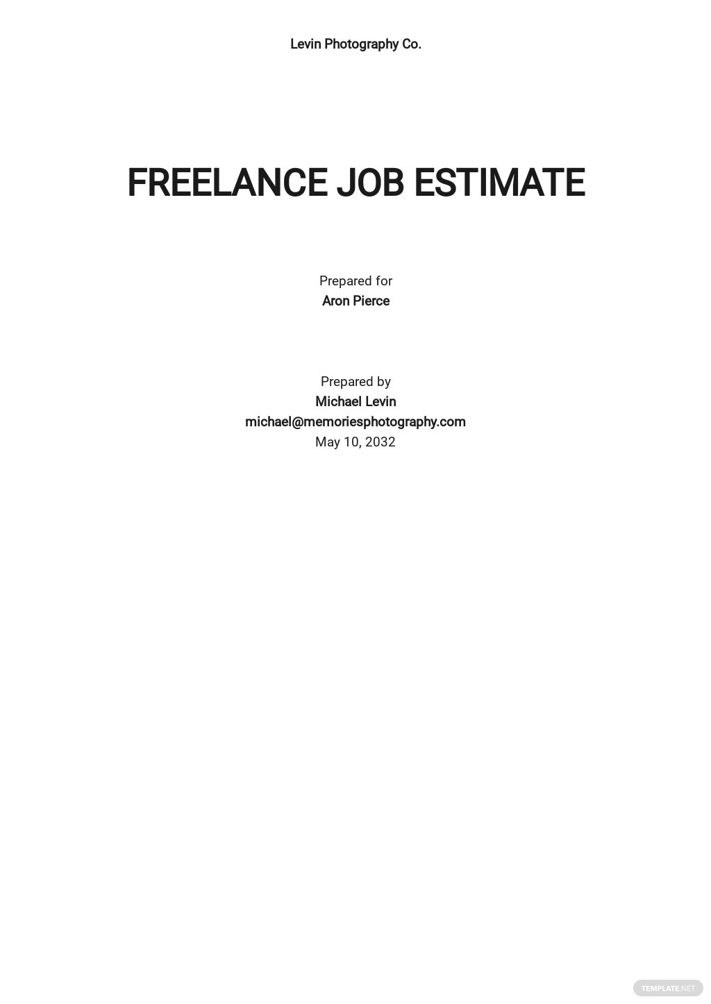 Freelance Job Estimate Template.jpe