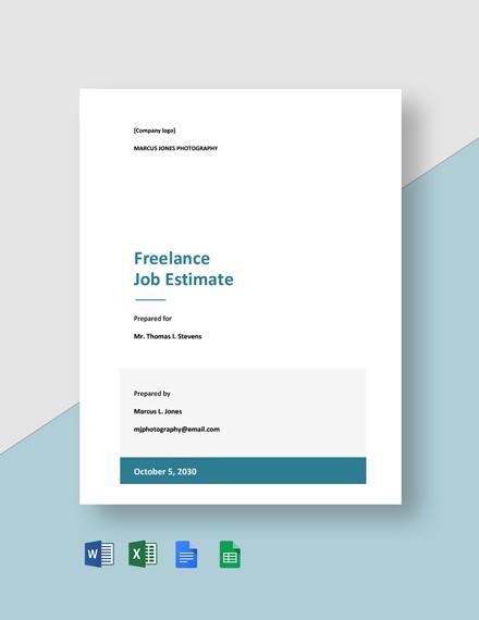 Freelance Job Estimate Template