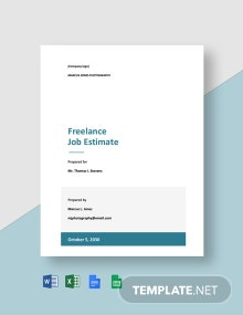 Freelance Job Estimate Template