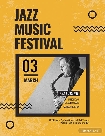 free jazz music concert poster template download 96 posters in psd