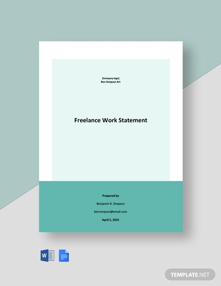 Freelance Work Statement Template