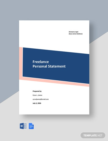 Freelance Personal Statement Template