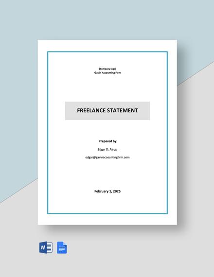 Freelance Statement  Template