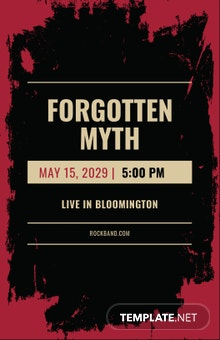 Free Rock Concert Poster Template