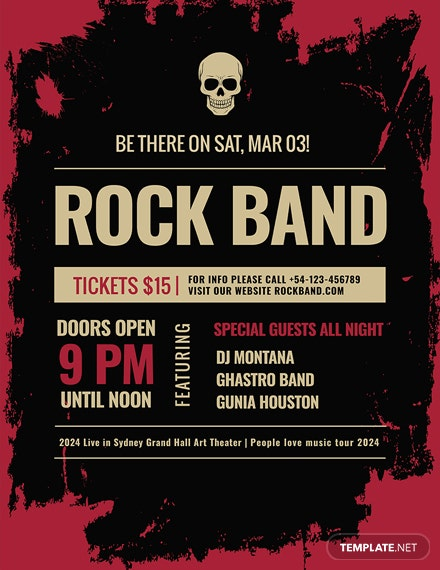 free rock concert poster template download 96 posters in psd