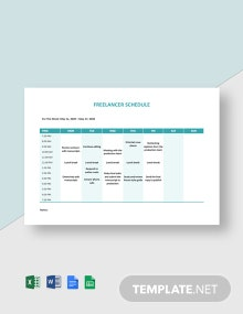 Freelancer Schedule Template