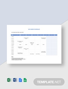 Freelance Work Schedule Template