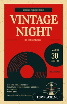 Free Vintage Music Poster Template